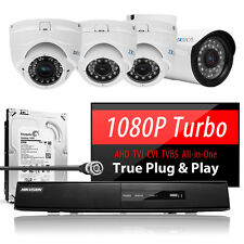 4 Long Transmission Night Vision Camera Home Office DVR Complete AHD CCTV System