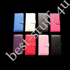 Flip Magnetic Leather Wallet Card Case Cover Fits IPhone Apple Mobile Phone ^55