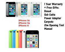 Apple iPhone 5c 5s 6 16GB/32GB/64GB Factory Unlocked Smartphone BOXED - GRADE A