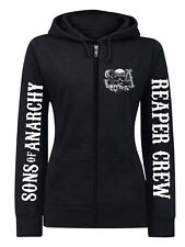 Sons of Anarchy Reaper Crew Logo female Zip-Hoodie, Damen Kapuzenjacke