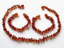 Genuine Baltic amber necklace or bracelet anklet for child, natural shape beads