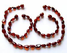 Genuine Baltic amber necklace or/and bracelet anklet for child dark cognac beads