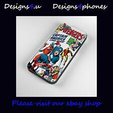VINTAGE MARVEL AVENGERS CUSTODIE PER CELLULARE IPHONE 4S 5 5S 5C 6 SAMSUNG S3 S4