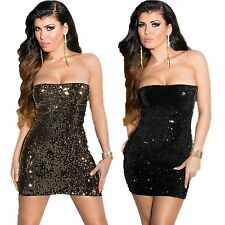 Party dress Bandeau Mini Dress with sequins S 34 36 sexy Dress Glitter Cocktail