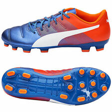 PUMA SCARPE CALCIO EVOPOWER 4.3 AG 103538 03 BLUE/WHITE/ORANGE NUOVO ORIGINALE