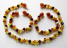 Genuine Baltic amber necklace or bracelet anklet child baby size big amber beads