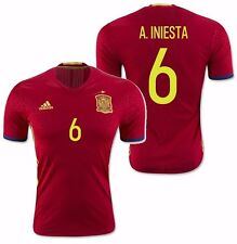 ADIDAS SPAIN A. INIESTA EURO 2016 AUTHENTIC PLAYER HOME ADIZERO JERSEY Scarlet