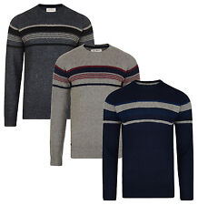 Old Boys Network Mens New Crew Neck Lambswool Jumper Wool Blend Knitted Pullover