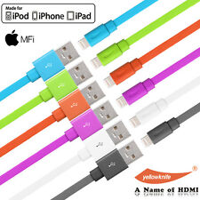 For iPhone 7 / 7Plus 6s 5S 5S SE Charger Cable MFI FLAT Lightning To USB Cord US