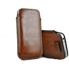 NEW Premium Leather Pull Tab Pouch Case Cover Holster For Various iPhone