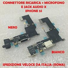 CONNETTORE IPHONE 5S DOCK FLEX  RICARICA FLAT MICROFONO ANTENNA E JACK AUDIO B/N