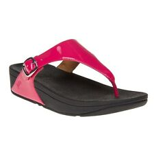 New Womens FitFlop Pink The Skinny Synthetic Sandals Flip Flops