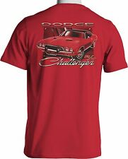 MOPAR Dodge Challenger RT T Shirt Hemi Muscle Car Mens Red Small to 6XL and Tall