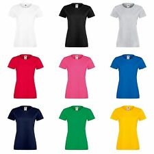 Fruit Of The Loom Damen Lady-Fit Sofspun T-Shirt, Kurzarm, Rundhalsausschnitt
