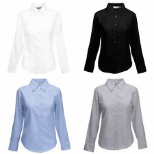 Fruit Of The Loom Lady-Fit Oxford Bluse, Langarm
