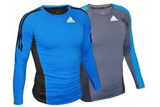 Adidas Long Sleeve MMA Rashguard Climalite BJJ Rash Guard Compression Martial