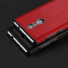 For ***Xiaomi Redmi Note 3*** Luxury Leather Hard Back Chrome Bumper  Cover Case