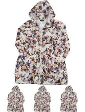 "OFFERTA Brave Soul Womens Hooded Mac Cream Floral UK 18 Euro 46 Bust 42"" Size 18"