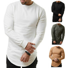 EightyFive EF118 Herren Longsleeve Langarm Sweat Shirt Long Oversized S-XL