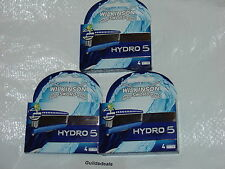WILKINSON SWORD HYDRO 5 RAZOR BLADES - Pack of 4 8 or 12 New