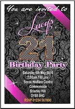 Personalised Birthday Party Invitations  / Invites 18th 21st 30th 40th 50th 60th