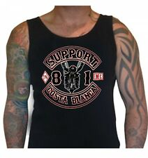 031 Biker Black Singlet Support81 Big Red Machine 1% Hells Angels™