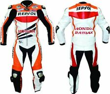 HONDA REPSOL MOTORBIKE LEATHER SUIT MOTORCYCLE LEATHER JACKET TROUSER 1/2-PIECE