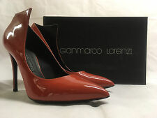 Gianmarco Lorenzi Patent Orange Leather Lace up Shoes. A6D0A3602. Various Sizes.