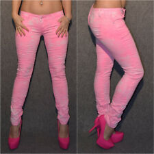 Batik Look stretch Jeans HELL ROSA / WEISS