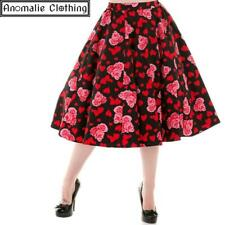173191bdc680 Hearts and Roses Skirt - 1950s Retro Rockabilly Vintage Inspired Valentines  Day