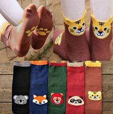 Cute Womens Lady Girls Korean Cartoon Socks Animal Cotton Fashion Stereo Hosiery
