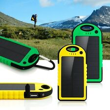 Solar Power Bank Portable Battery 5000 mAh Dual USB Waterproof Phone Charger