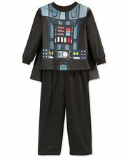 New Star Wars Pajamas Toddler Boys 2-Piece Darth Vader Costume Cape Size 2T 3T