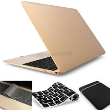 """Hard Rubberized Case + Keyboard Cover for MacBook Retina 12"""" inch A1534 Pro/Air"""