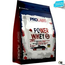 PROLABS Power Whey 1kg Proteine Siero del Latte concentrate ed Isolate + Vit  B6