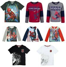 Officiel Enfants Marvel Ultimate Spiderman Manches Longues T-Shirt Âges 3-8
