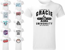 Gracie BJJ T Shirt Brazilian Jiu Jitsu Martial Arts Top MMA UFC Training Tee