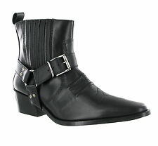 Gringos Low Clive Cowboy Western Mens Leather Pull On Harness Ankle Boots UK6-12