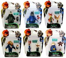 OFFICIAL Disney ZOOTROPOLIS Poseable Figures Nick Judy May Mr Big McHorn Kevin..