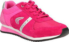 Clarks SUPER LEAP Girls Rose Suede Leather Lace Trainers Shoes 13 - 4 FG Widths