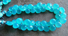 CHALCEDONY faceted heart briolette