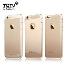 For iPhone 6/6S Plus 5.5 TOTU Ultrathin Transparent Mesh PC Back Case Cover GOLD