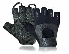 WHEELCHAIR GLOVES PADDED PALM WEIGHT LIFTING FINGERLESS FITNESS BODYBUILDING GYM