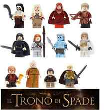 LEGO TRONO DI SPADE MINIFIGURES - GAME OF THRONES 12 PERSONAGGI CUSTOM LIKE