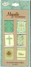 6 SMALL MAGNETIC BOOKMARKS - Grace And Glory-Set