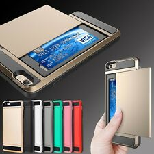 New iPhone 7 7+ 6 6s Plus 5c SE 5 5S TPU Shockproof Wallet Case Cover