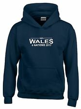 100% Gales Six Nations 2017 Hombre Rugby Sudadera Con Capucha