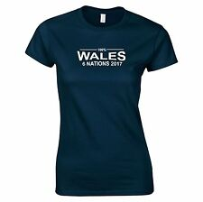100% Gales Six Nations 2017 Mujer camiseta de Rugby