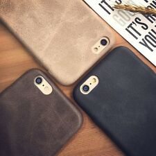 Ultra Thin PU Leather Back Skin Case Cover For iPhone 7 6 6S Plus