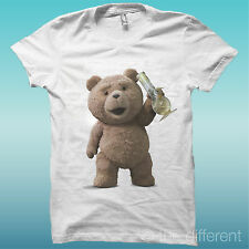 """T-SHIRT """" TED HUMOS HUMO DIVERTIDO """" BLANCO THE HAPPINESS IS HAN MY T-SHIRT NEW"""